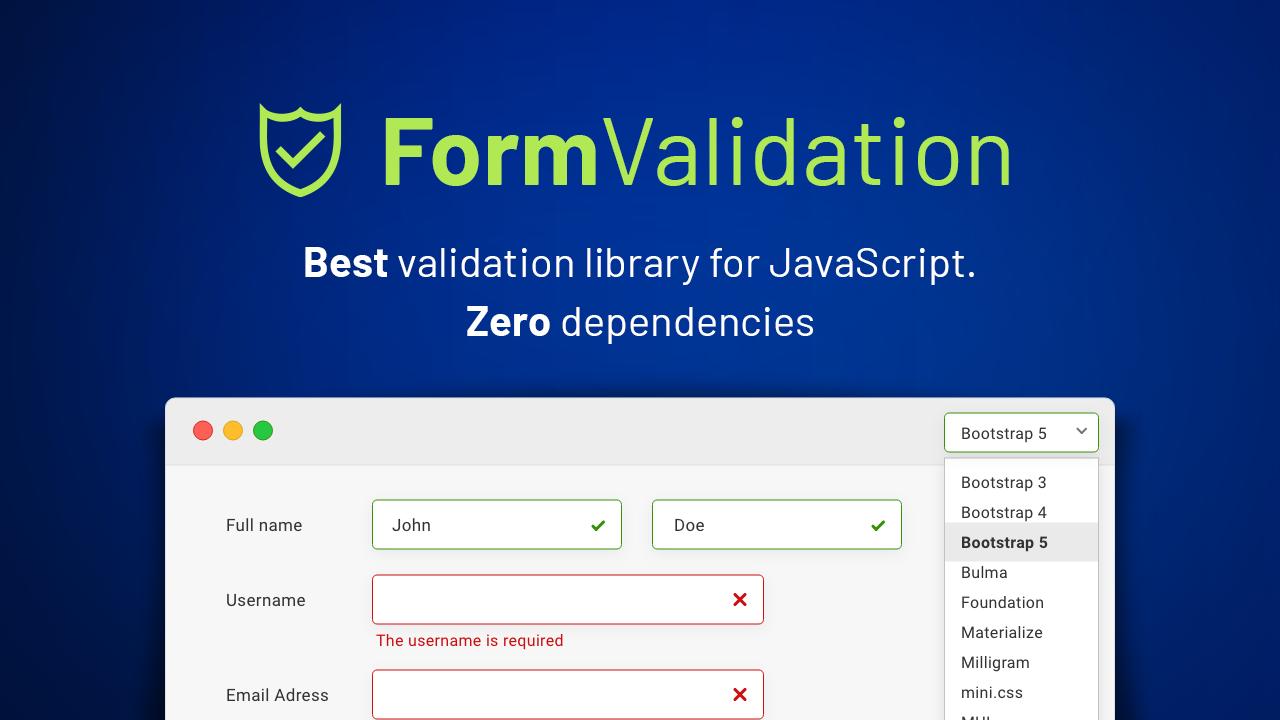 Screenshot of FormValidation
